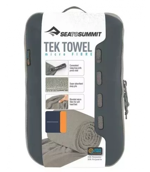 TOALHA ULTRA ABSORVENTE SEA TO SUMMIT TEK TOWEL TAM. M CINZA